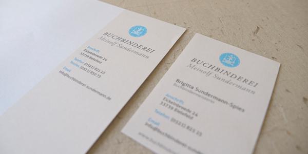 Visitenkarte und Briefpapier